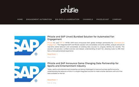 Screenshot of Press Page phizzle.com - News Ń Phizzle - captured Dec. 3, 2015
