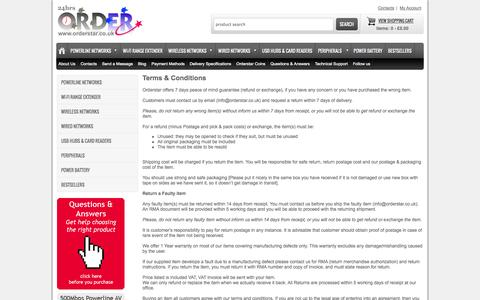 Screenshot of Terms Page orderstar.co.uk - Orderstar Terms and Conditions - captured Sept. 30, 2014