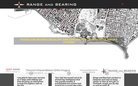 Screenshot of Home Page rangeandbearing.com - RANGE and BEARING - captured Oct. 18, 2018