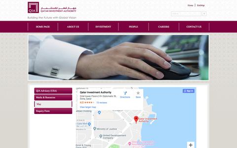 Screenshot of Maps & Directions Page qia.qa captured Sept. 23, 2018