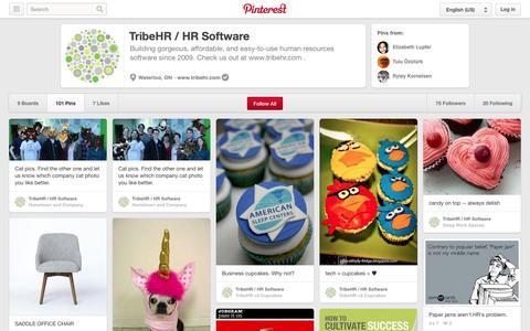 Screenshot of Pinterest Page pinterest.com - TribeHR / HR Software on Pinterest - captured Oct. 22, 2014