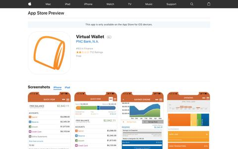 Virtual Wallet on the AppStore