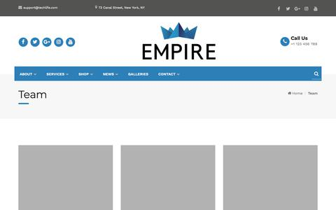 Screenshot of Team Page empireofficesolutions.com - Team – Empire Office Solutions - captured July 18, 2018