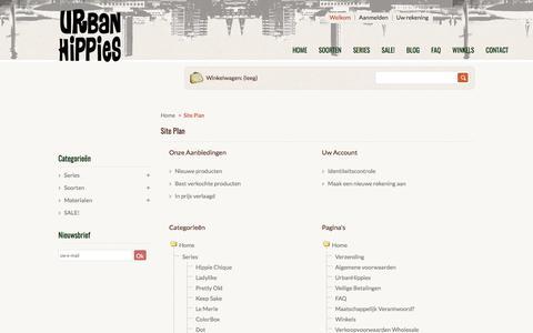 Screenshot of Site Map Page urbanhippies.nl - Sitemap - UrbanHippies - captured June 18, 2017