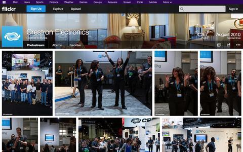 Screenshot of Flickr Page flickr.com - Flickr: CrestronElectronics' Photostream - captured Oct. 23, 2014