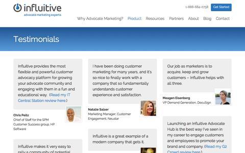 Screenshot of Testimonials Page influitive.com - Testimonials Archive | Influitive - captured Sept. 16, 2014
