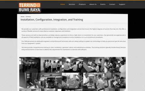 Screenshot of Services Page terrindo.co.id - Terrindo Bumi Raya - captured Nov. 8, 2017
