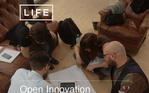 Screenshot of Home Page life-interaction.com - LIFE INTERACTION - We bring innovation to life. - captured July 17, 2014
