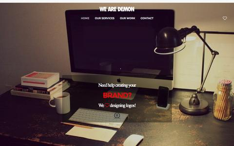 Screenshot of Home Page wearedemon.co.uk - Digital Marketing & Website Design Hull - Design and Print - captured June 18, 2015