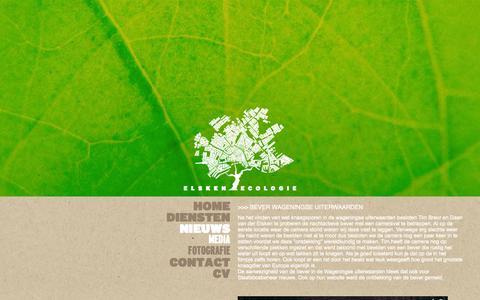 Screenshot of Press Page elskenecologie.nl - Elsken Ecologie | Ecoloog en ecologisch adviesbureau te Amsterdam - captured Sept. 29, 2014