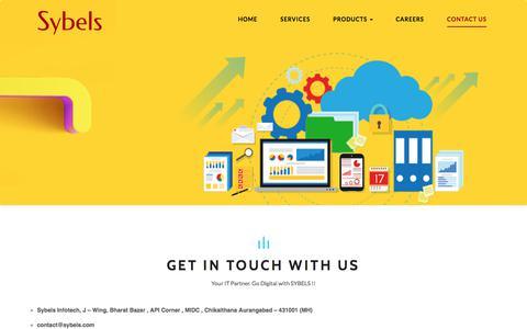 Screenshot of Contact Page sybels.com - Sybels Infotech Aurangabad Contact Details| Phone Number | Reach Us - captured Sept. 21, 2018