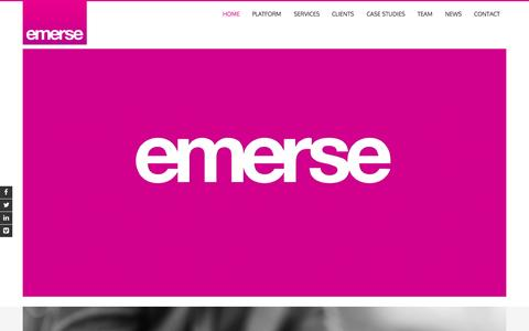 Screenshot of Home Page emerse.com - Emerse – The Programmatic Video Advertising Platform | Video DSP | Advertising - captured Oct. 1, 2015