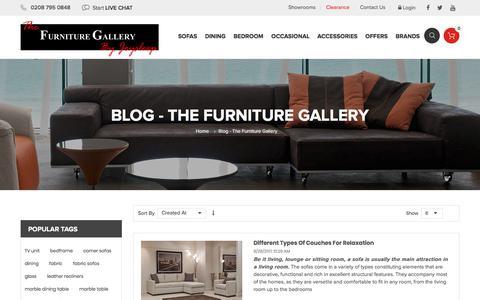 Screenshot of Blog thefurnituregallery.net - Blog - The Furniture Gallery - captured Oct. 16, 2017