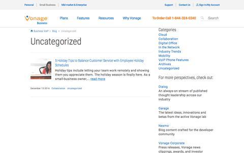 Uncategorized Archives - Vonage Business