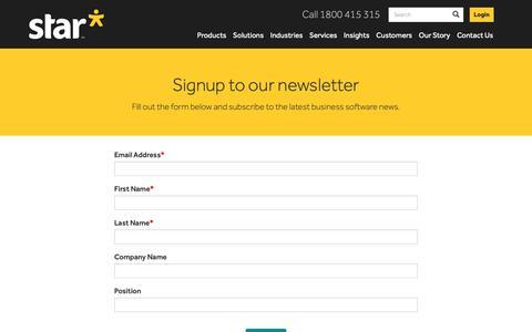 Screenshot of Signup Page starbusinesssolutions.com.au - Sign Up   Star Business Solutions - captured Nov. 7, 2018