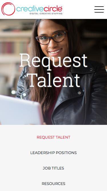 Request Talent | Creative Circle