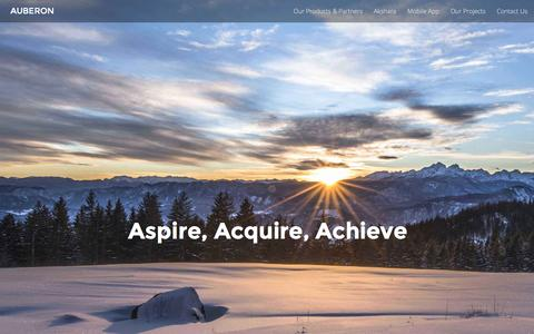 Screenshot of Home Page auberon.com.sg - Auberon :: IT solutions and services - captured Feb. 6, 2016
