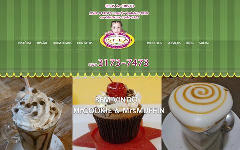 Screenshot of Home Page mrcookie.com.br - MrCOOKIE & MrsMUFFIN - captured Feb. 15, 2016
