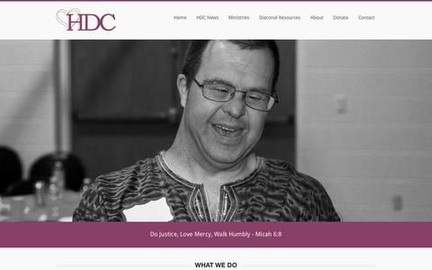 Screenshot of Home Page hdccrc.org - HDC - captured Oct. 2, 2014