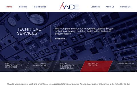 Screenshot of Home Page aace.co.uk - AACE - Aerospace & Airworthiness Consultancy | Bristol - captured Oct. 3, 2018