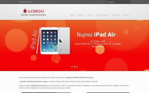 Screenshot of Home Page vodafoneagenzia.it - Agenzia Vodafone Business, assistenza clienti Vodafone Calabria, Sicilia Cosenza - captured Oct. 4, 2014