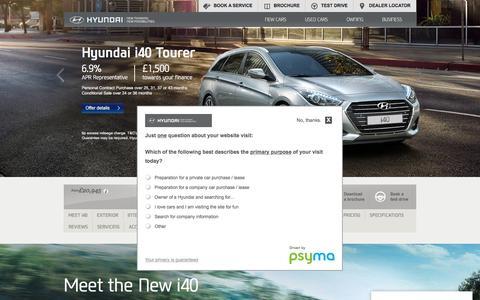 Hyundai i40 Tourer   Mid-sized Family Estate Car