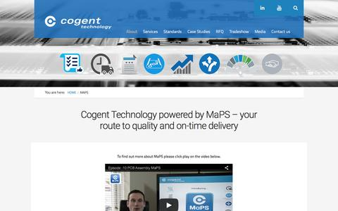 Screenshot of Maps & Directions Page cogent-technology.co.uk - Maps | Cogent Technology - captured July 14, 2016