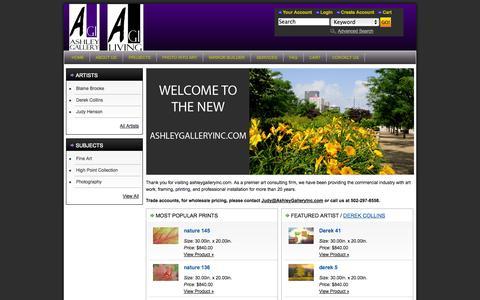 Screenshot of Home Page ashleygalleryinc.com - Ashley Gallery Inc | Inspiration begins here. - captured Sept. 30, 2014