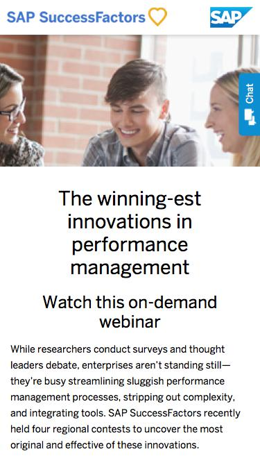 The winning-est innovations in performance management