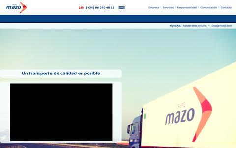 Screenshot of Home Page grupomazo.com - Empresa de Transporte Internacional y Nacional por Carretera - captured May 25, 2017