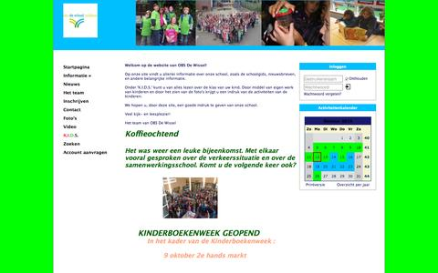 Screenshot of Home Page obsdewisselzuidland.nl - OBS De Wissel - captured Oct. 12, 2015