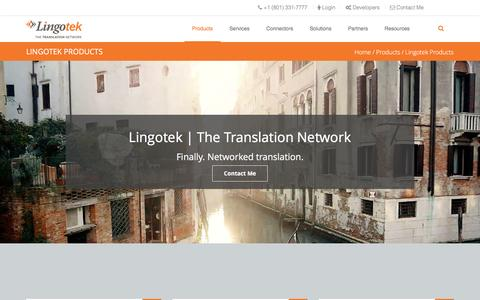 Screenshot of Products Page lingotek.com - Lingotek Cloud-Based Translation Management System | Lingotek - captured May 9, 2017