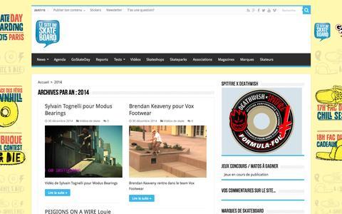 Screenshot of Press Page le-site-du-skateboard.com - 2014 - Le Site Du Skateboard - captured July 20, 2015