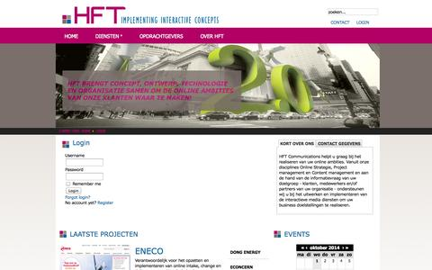 Screenshot of Login Page hftcom.nl - LOGIN - captured Oct. 1, 2014