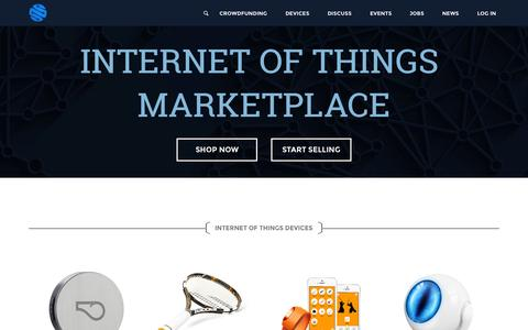 Screenshot of Home Page iot.do - Internet of Things Marketplace - IoT.do - captured Sept. 7, 2015