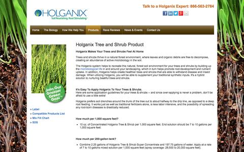Screenshot of holganix.com - Tree & Shrub - captured March 19, 2016
