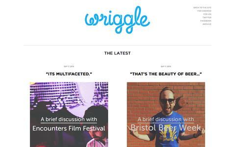 Screenshot of Blog getawriggleon.com captured Sept. 17, 2014