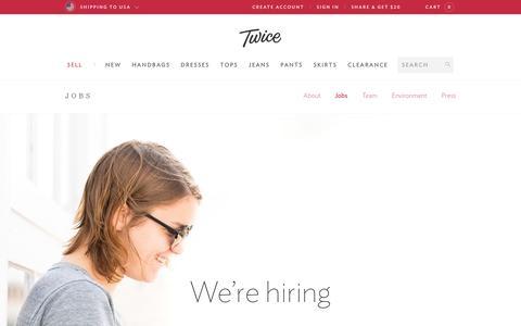 Screenshot of Jobs Page liketwice.com - Jobs - Twice - captured Sept. 17, 2014