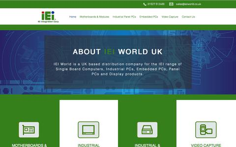 Screenshot of Home Page ieiworld.co.uk - IEI World   Industrial Computing Solutions - captured July 26, 2018