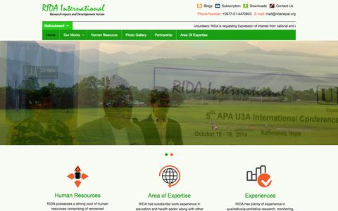 Screenshot of ridainternational.org - RIDA International - captured Oct. 4, 2015