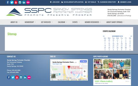 Screenshot of Site Map Page sandyspringsperimeterchamber.com - Sitemap - Sandy Springs/Perimeter Chamber of Commerce - captured Nov. 12, 2018