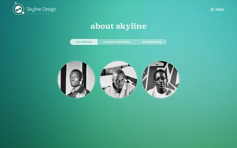 Screenshot of About Page skylinedesign.co.ke - The Martians — Skyline Design Ltd - captured Sept. 24, 2014