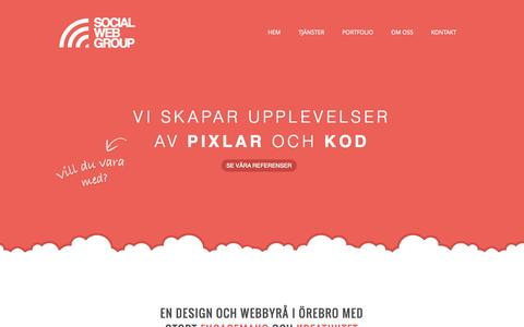 Screenshot of Home Page socialwebgroup.se - Design- och webbyrå i Örebro - SocialWebGroup Design- och webbyrå i Örebro - SocialWebGroup Design- och webbyrå i Örebro - captured Sept. 30, 2014