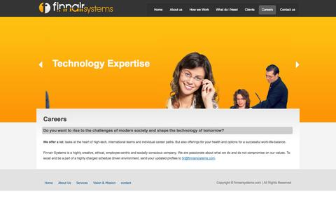 Screenshot of Jobs Page finnairsystems.com - Finnair Systems - Our Careers | Contact: 044-32532255 - captured Sept. 30, 2014