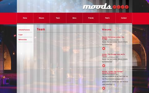Screenshot of Team Page moodspuur.nl - Team | Moods, puur - captured Jan. 10, 2016