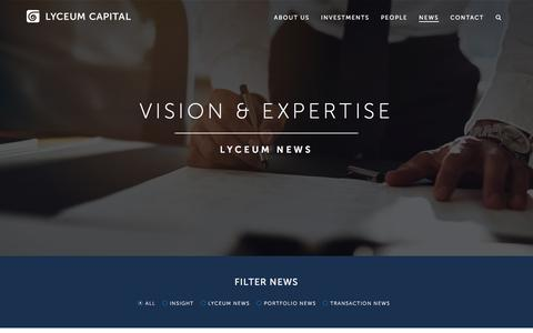 Screenshot of Press Page lyceumcapital.co.uk - Our Recent News - Lyceum Capital - captured May 24, 2017