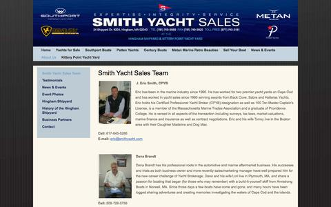 Screenshot of Team Page smithyacht.com - Smith Yacht Sales Team - captured Feb. 16, 2016