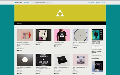 Screenshot of Products Page bandcamp.com - Merch | ULTRAMAJIC - captured Dec. 6, 2018