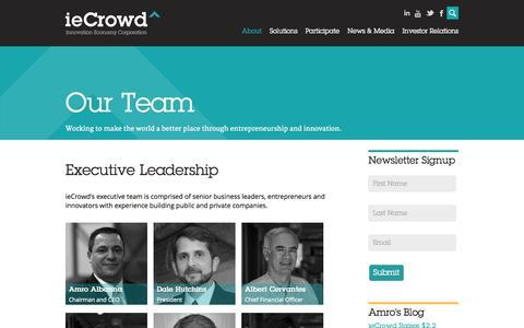 Screenshot of Team Page iecrowd.com - Team | ieCrowd - captured Sept. 16, 2014