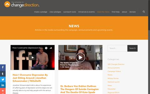 Screenshot of Press Page changedirection.org - News - The Campaign to Change Direction - captured July 9, 2018